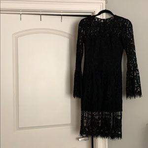Lace Dress w/ Bell Sleeves
